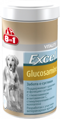8in1 Excel Glucosamine - минеральная добавка для собак, 55 таб