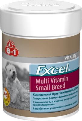 8in1 Excel Multi Vitamin Small Breed мультивитамины для мелких собак, 70 таб/150 мл