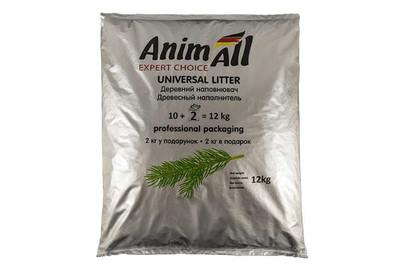 AnimAll древесный наполнитель для туалетов, 12 кг