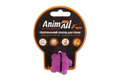 AnimAll Fun игрушка для собак Шар молекула фиолетовая, 3 см