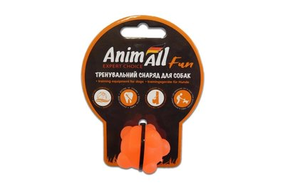 AnimAll Fun игрушка для собак Шар молекула оранжевая, 3 см