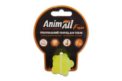 AnimAll Fun игрушка для собак Шар молекула желтая, 3 см