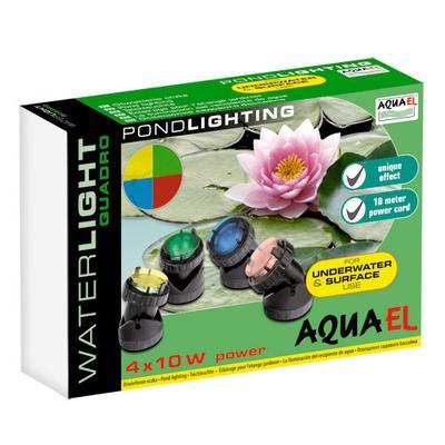 Aquael Waterlight Quadro 4х10Вт - светильник для пруда, 100497/3398