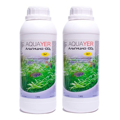 Aquayer Альгицид+СО2 препарат против водорослей в аквариуме, 2х1 л