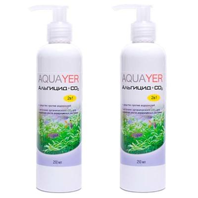 Aquayer Альгицид+СО2 препарат против водорослей в аквариуме, 2х250 мл