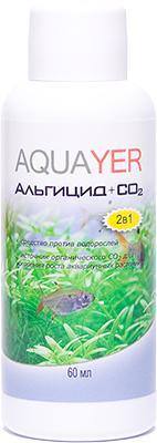 Aquayer Альгицид+СО2 препарат для борьбы с водорослями в аквариуме, 60 мл