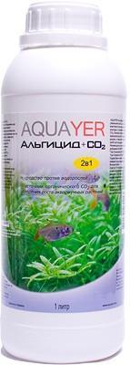 Aquayer Альгицид+СО2 препарат против водорослей в аквариуме, 1 л