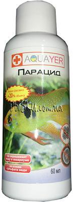 Aquayer Парацид – для борьбы с эктопаразитами, 60 мл