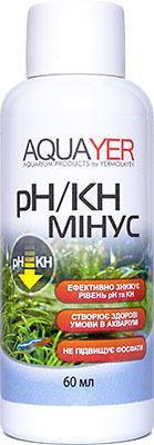 Aquayer pH/KH минус средство для снижения КН и рН воды в аквариуме, 60 мл