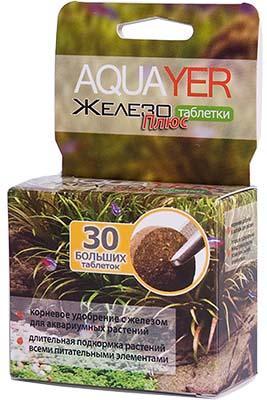 Aquayer Железо Плюс 30 шт, прикорневое удобрение в таблетках