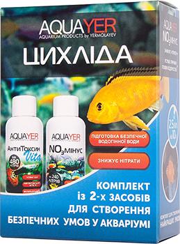 Aquayer Цихлида набор для создания условий для рыб в аквариуме, 3х60 мл