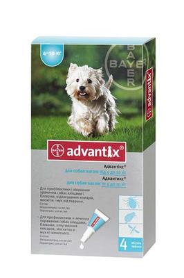 Bayer Advantix (Адвантикс) от блох и клещей у собак 4-10 кг, 1 пипетка (4 в уп.)