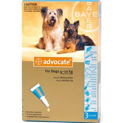 Bayer Advocate (Адвокат) капли на холку от блох у собак 4-10 кг, 1 пипетка (3 в уп.)