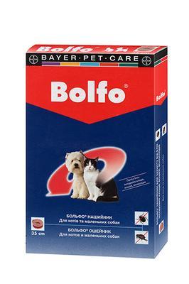 Bayer Bolfo ошейник от блох и клещей для котов и маленьких собак, 35 см