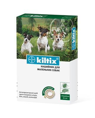 Bayer Kiltix Small ошейник от блох и клещей для маленьких собак, 35 см