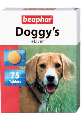 Beaphar Doggy Leaver - витамины для собак, печень, 75 таблеток