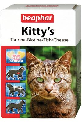 Beaphar Kitty Mix - витамины для кошек, 180 таб