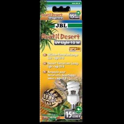 JBL ReptilDesert UV Light ультафиолетовая лампа Е27 для пустынных животных, 15 Вт