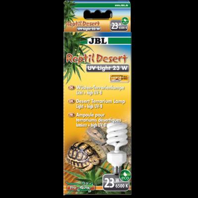 JBL ReptilDesert UV Light ультрафиолетовая лампа Е27 для пустынных животных, 23 Вт
