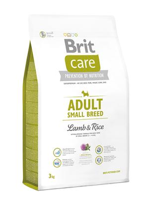 Brit Care Adult Small Breed Lamb and Rice - корм для собак мелких (до 10 кг) пород, 3 кг
