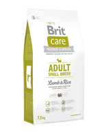 Brit Care Adult Small Breed Lamb and Rice - корм для собак мелких (до 10 кг) пород, 7,5 кг