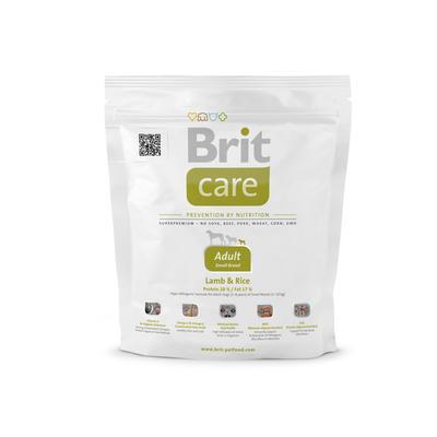 Brit Care Adult Small Breed корм для взрослых собак маленьких и карликовых пород, ягненок и рис,1 кг