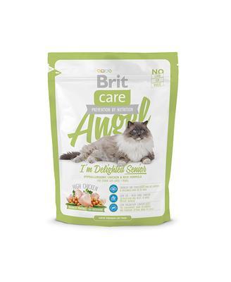 Brit Care Cat Angel Im Delighted Senior - корм для кошек старше 7 лет с рисом и курицей, 0,4 кг