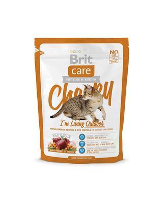 Brit Care Cat Cheeky Im Living Outdoor - корм для взрослых кошек живущих на улице оленина и рис, 0,4 кг