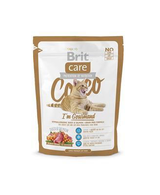 Brit Care Cat Cocco I am Gourmand - корм для привередливых кошек с чувствительным пищеварением, утка и лосось 0,4 кг