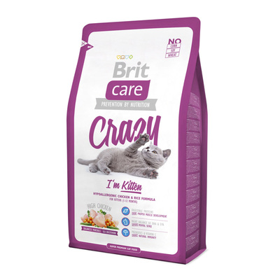 Brit Care Cat Crazy I m Kitten - корм для котят до 12 мес, 1 кг (развес)