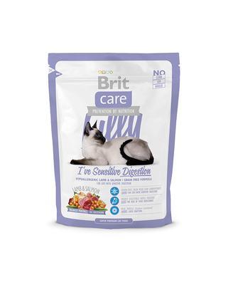 Brit Care Cat Lilly I ve Sensitive Digestion -  корм для кошек с чувствительным пищеварением ягненок и лосось, 0,4 кг