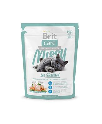 Brit Care Cat Missy for Sterilised - корм для стерилизованных кошек, курица и рис, 0,4 кг