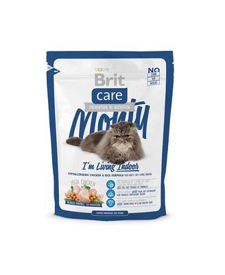 Brit Care Cat Monty Im Living Indoor - корм для взрослых кошек живущих в доме курица и рис, 0,4 кг