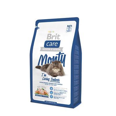 Brit Care Cat Monty Im Living Indoor - корм для взрослых кошек живущих в доме курица и рис, 2 кг