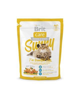 Brit Care Cat Sunny I ve Beautiful Hair - требовательная шерсть, лосось и рис, 0,4 кг