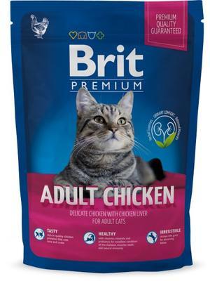 Brit Premium Adult chicken корм для взрослых котов, курица, 800 гр