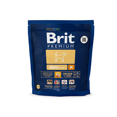 Корм Brit Premium Adult M 18kg для собак 132358