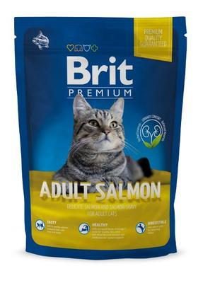 Brit Premium Adult salmon корм для взрослых котов, лосось, 800 гр