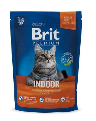 Brit Premium Cat Indoor корм для взрослых котов живущих в помещении, курица, 300 гр