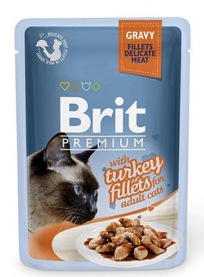 Brit Premium Cat pouch - консерва для котов филе индейки в соусе, 85 г
