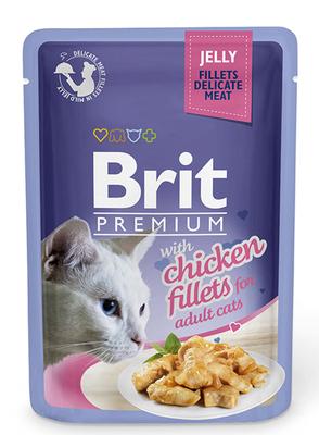 Brit Premium Cat пауч 85 г для котов филе курицы в желе