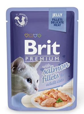 Brit Premium Cat пауч 85 г для котов филе лосося в желе