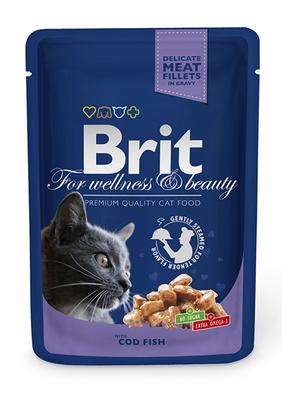Brit Premium Cat pouch - консерва для котов треска, 100 г