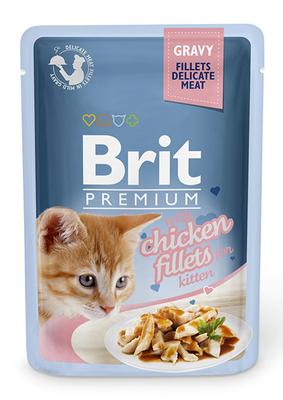 Brit Premium Cat пауч 85 г для котят филе курицы в соусе срок 04.12.21