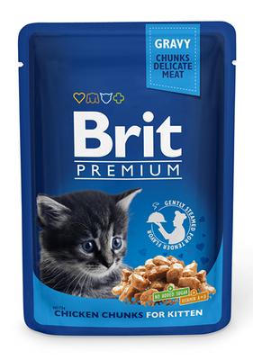 Brit Premium Cat pouch - консерва для котят, курица, 100 г