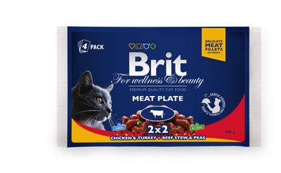 Brit Premium Cat pouch мясная тарелка - паучи 4х100 г