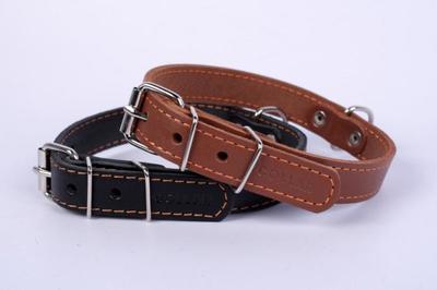 Collar №01336 - ошейник одинарный, коричневый 32-40см/20мм