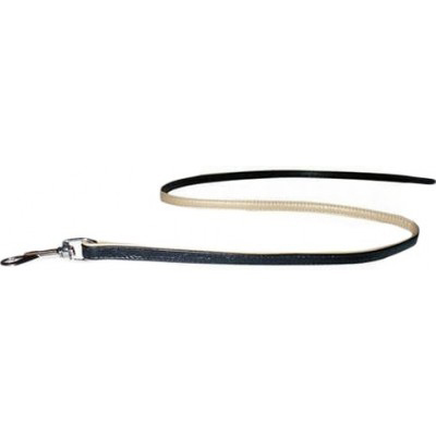 Collar №04471 - поводок одинарный непрошитый, черный 122см/8мм