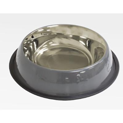 Croci AMici миска металлическая, серая 0,24л/16 см