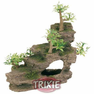 Trixie Каменная лестница с растениями - декорация для аквариума, 8852